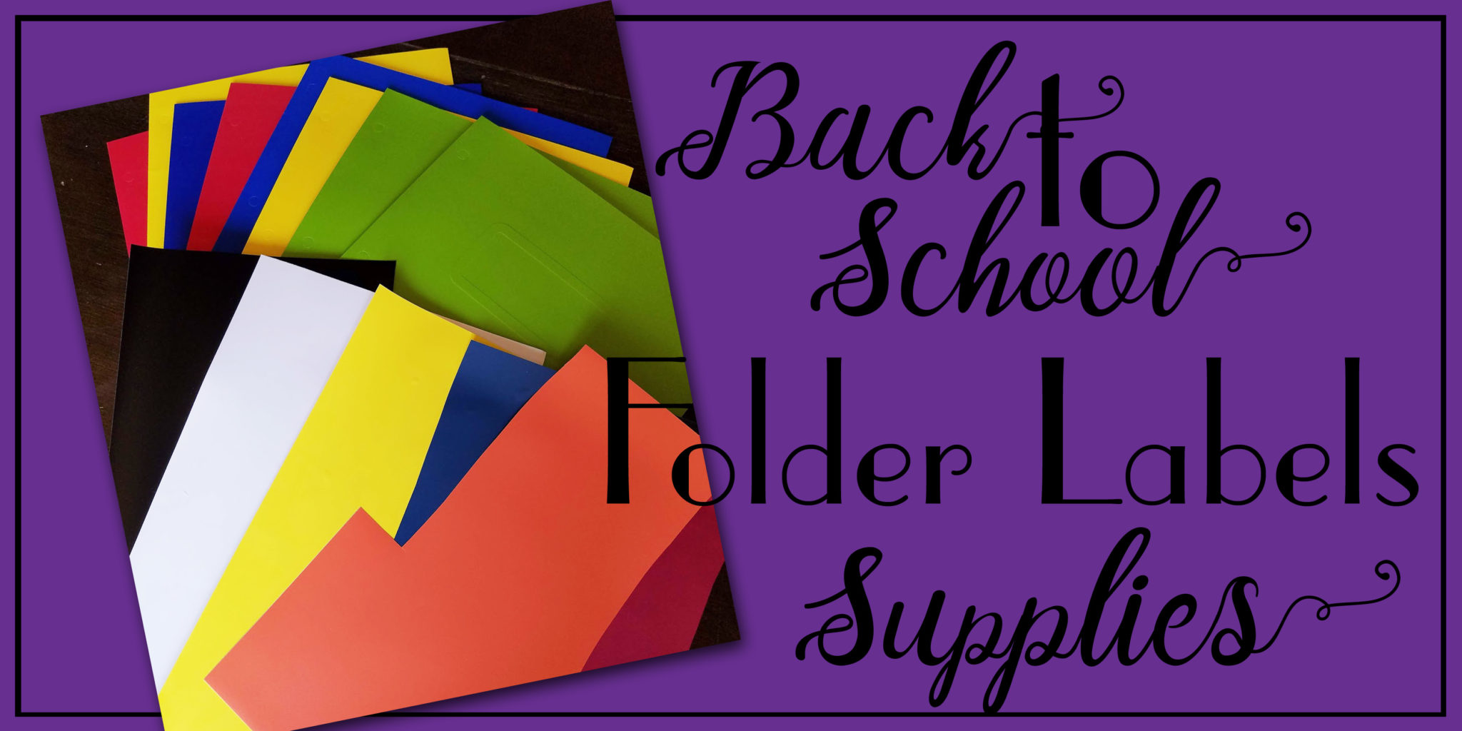 Back To School Folder Labels Diy Things Small And Simple
